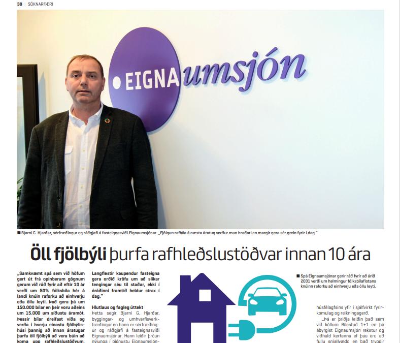 Öll fjölbýli þurfa rafhleðslustöðvar innan 10 ára
